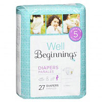 Save $1.50 on one bag or box of Well Beginnings Diapers at Walgreens