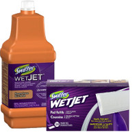 Print a coupon for $2 off two Swiffer Wet Jet Refills