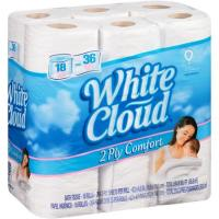 Save $1 on White Cloud Toilet Paper, Facial Tissue or Paper Towel