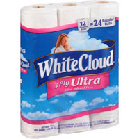 Save $1 on one package of White Cloud Bath Tissue