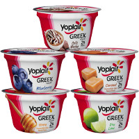 Print a coupon for $1 off any five Yoplait Greek, Greek 100, Greek 100 Whips or Plenti Yogurt Cups