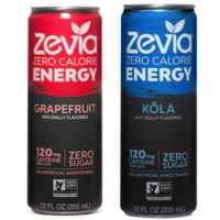 Print out a coupon for $1.50 off two cans of Zevia Energy Drinks