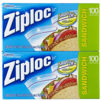 Print a coupon for $1 off two packs of Ziploc Bags