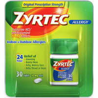 Print a coupon for $4 off one 24-30ct. Zyrtec product