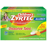 Print a coupon for $4 off any Children's Zyrtec product